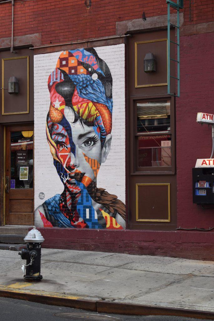 street art new yorkaudrey hepburn