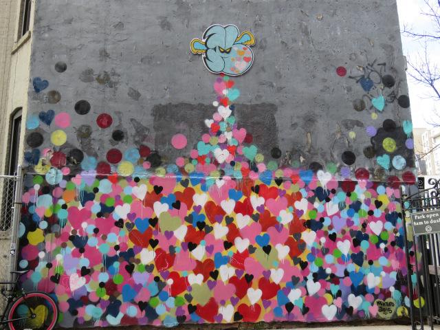 heart wall, new york street art
